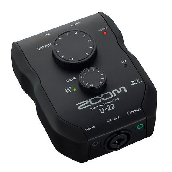 Zoom U-22 Interfaz de audio para llevar a todas partes
