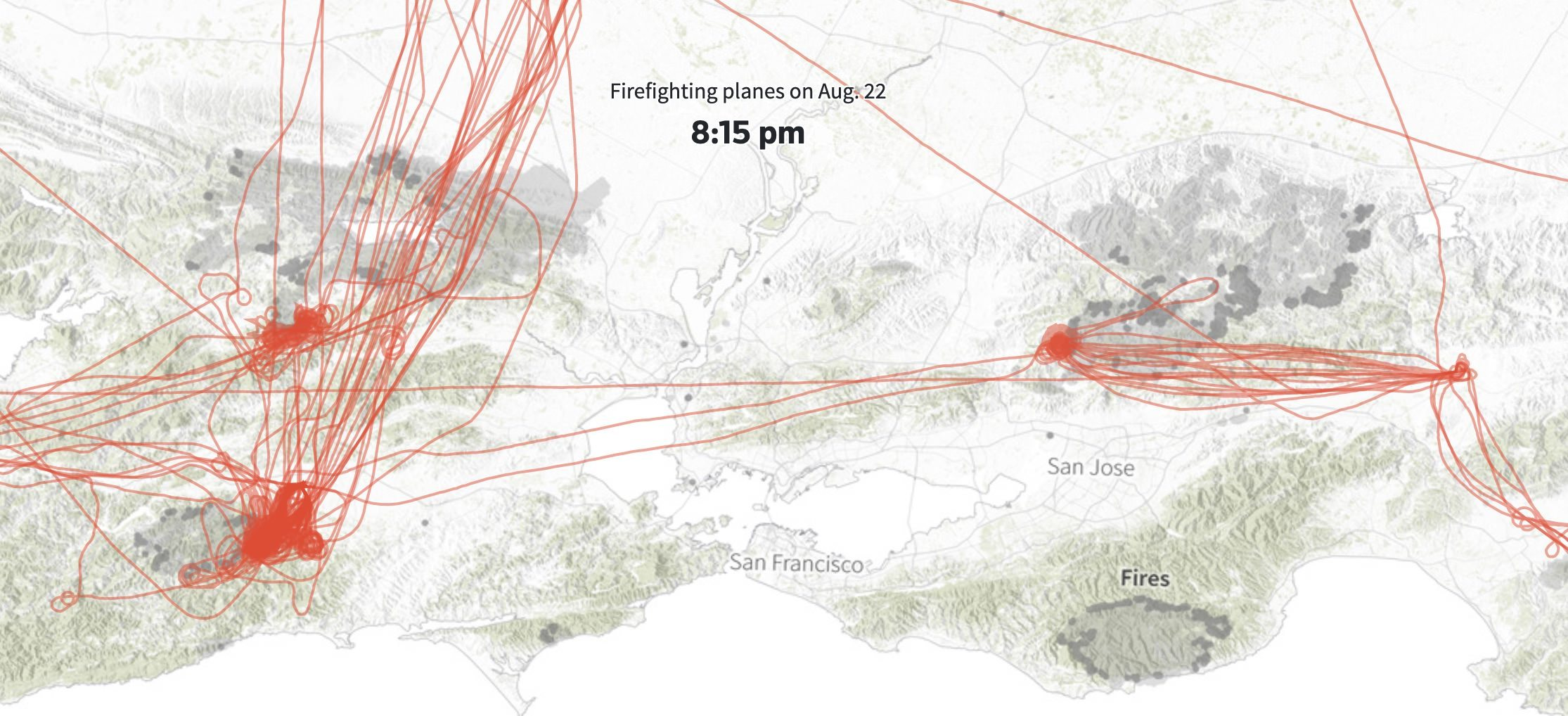 Aerial fire fighting mapped