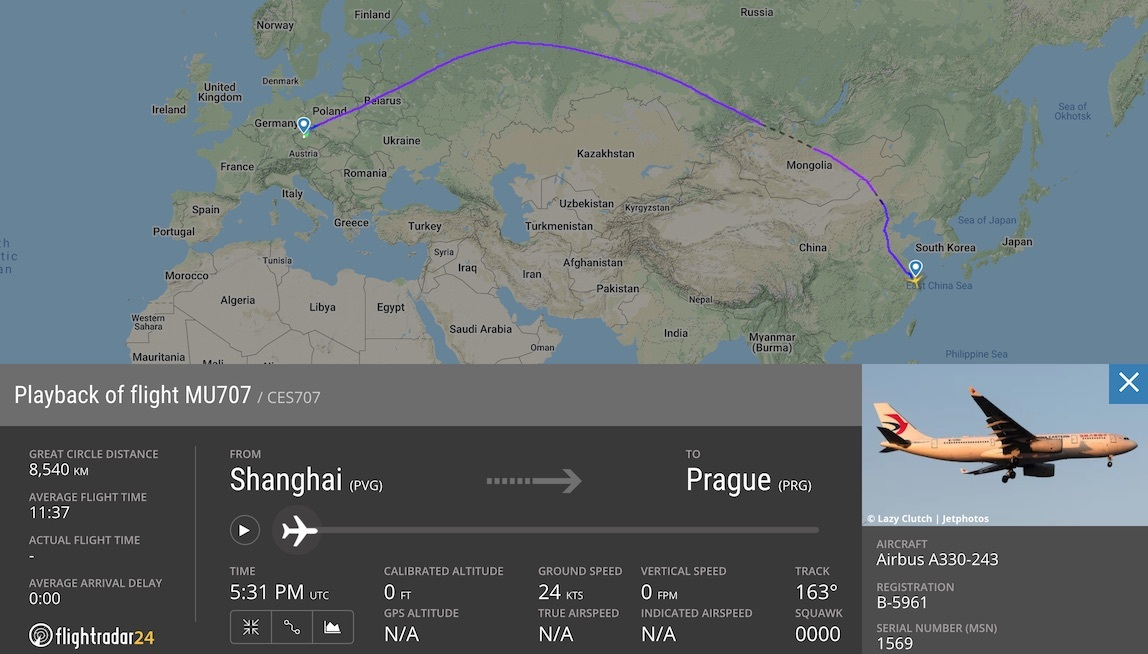 China Eastern's converted A330