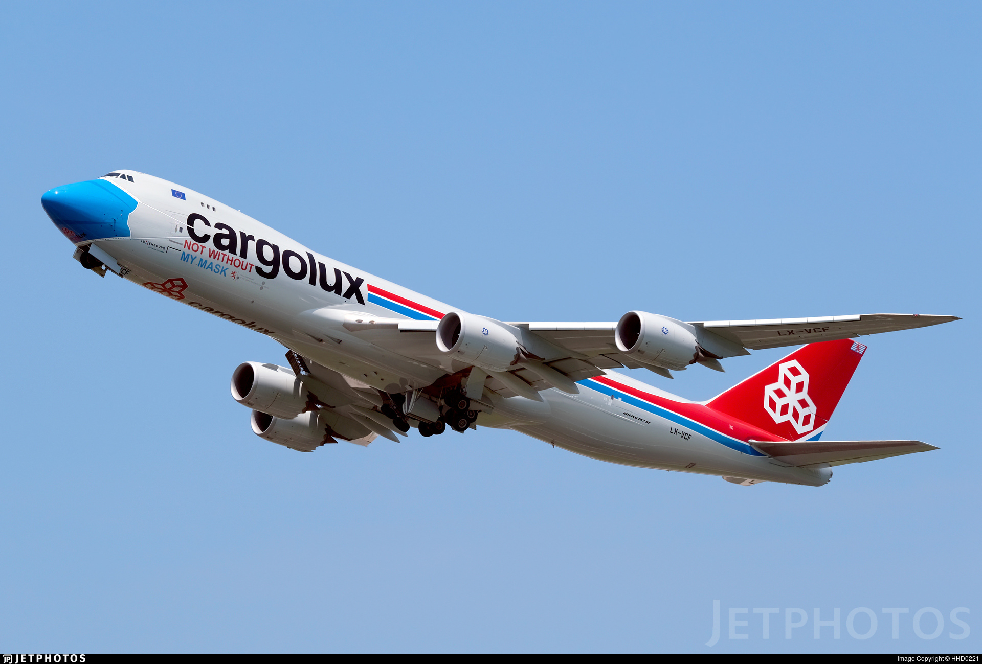 Cargolux 747 in special mask livery