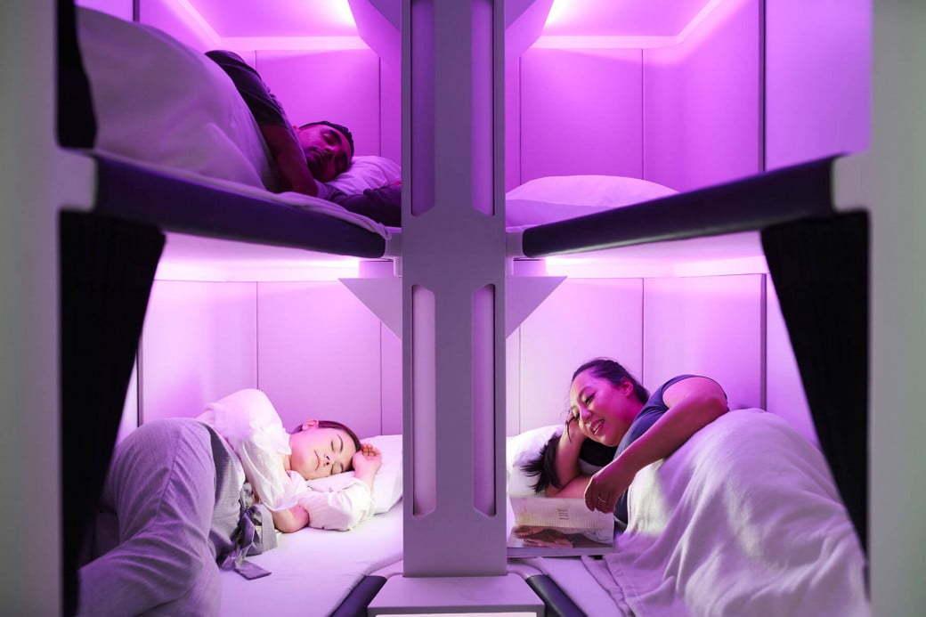 The Air New Zealand Skynest concept