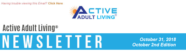 Active Adult Living - October 2nd Edition Newsletter