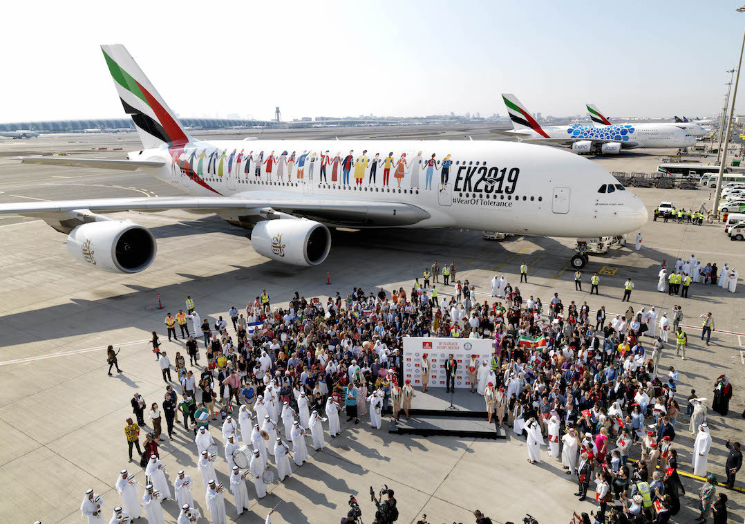 Emirates record seeing aircraft and passengers