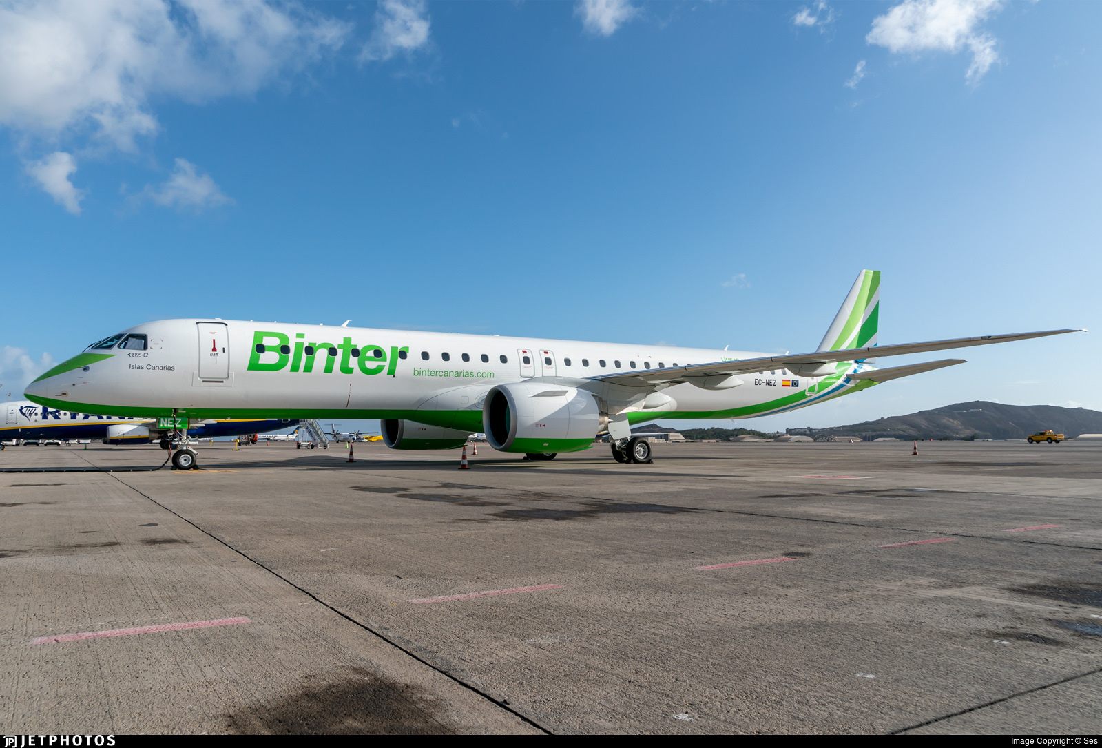 1st E195-E2 for Binter Canarias