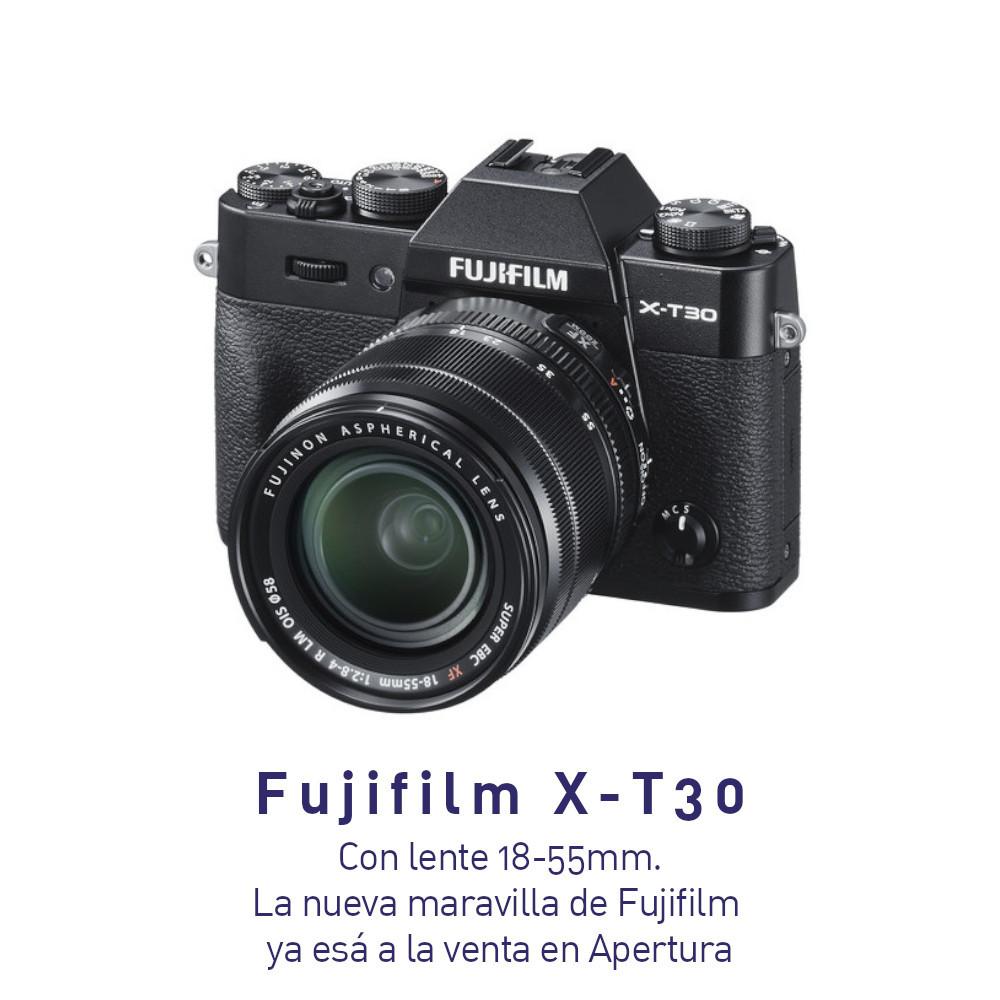 Fujifilm X-T30 Cámara Mirrorless Sin espejo Negra, con lente 18-55mm