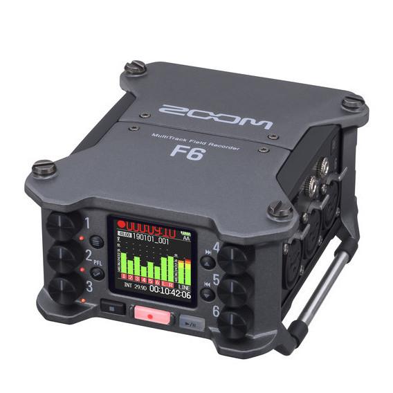 ZOOM F6 Grabadora de Campo 6 Entradas XLR 32Bit