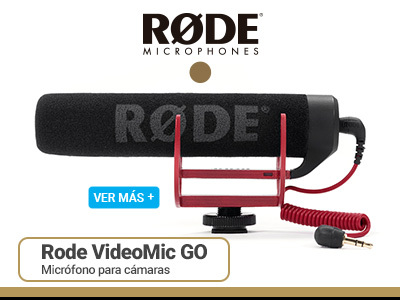 Rode Videomic GO Microfono para Camaras de Video
