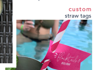 Personalized Straw Tags