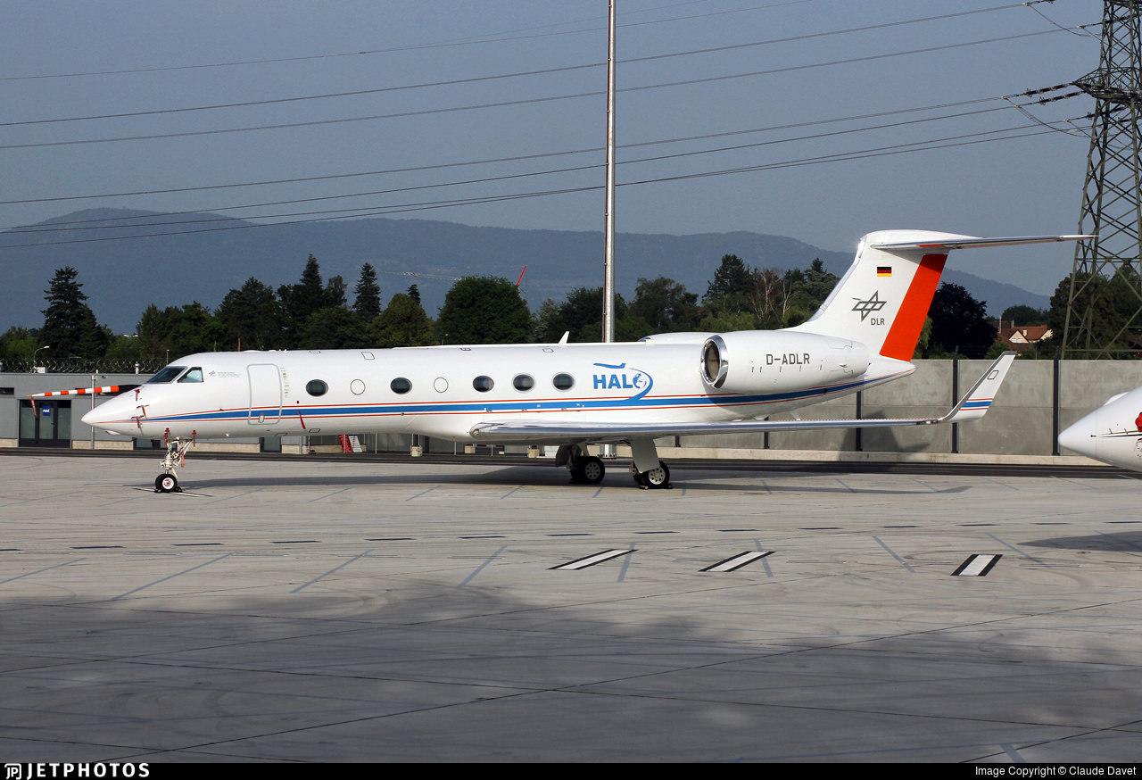 DLR Gulfstream G550 HALO aircraft