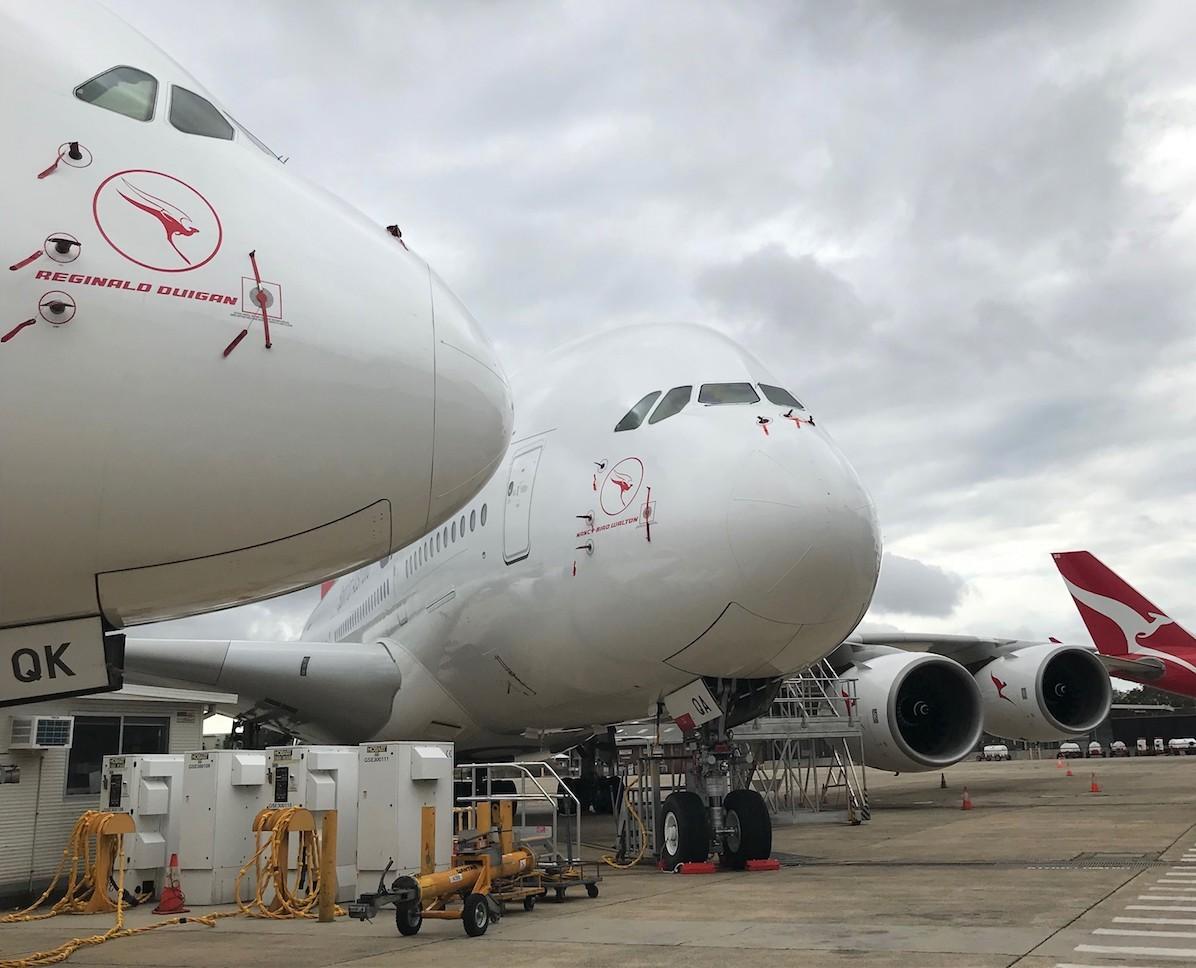Stored Qantas A380s