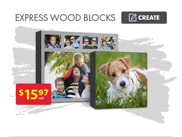 Express Wood Blocks - $15.97 each. Create.