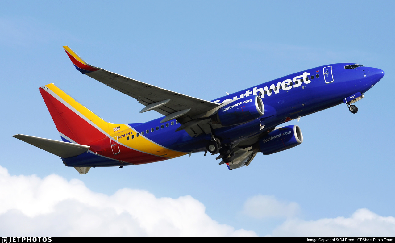 A Southwest Airlines 737-700, which is covered by the Airworthiness Directive