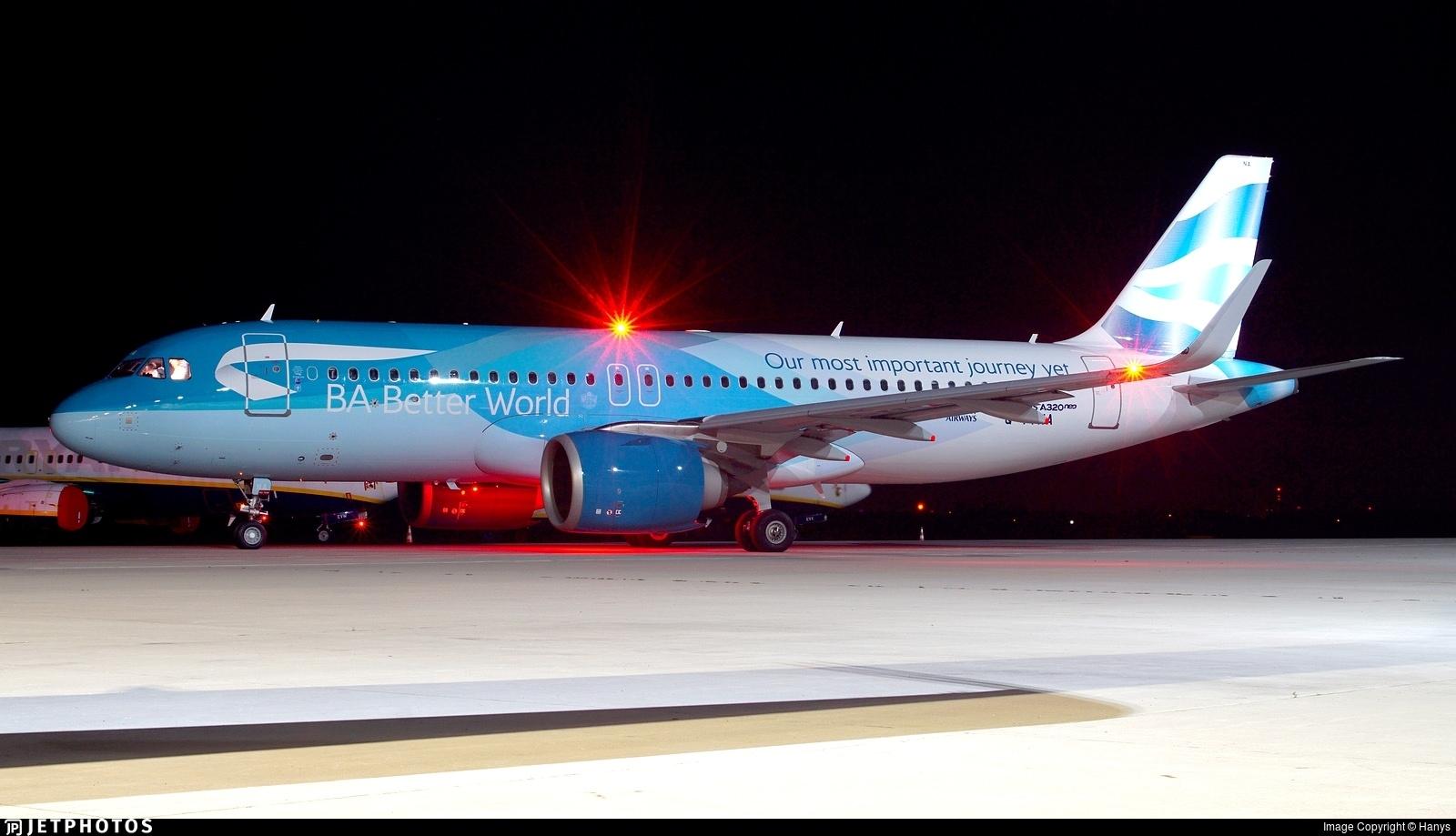 British Airways BA Better World A320neo