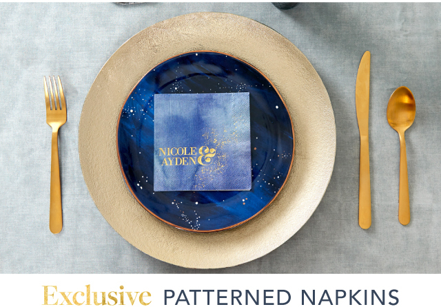 Personalized Patterned Napkins