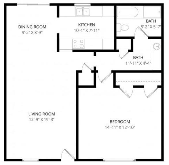 bent tree floorplan 1 bedroom 1 bathroom