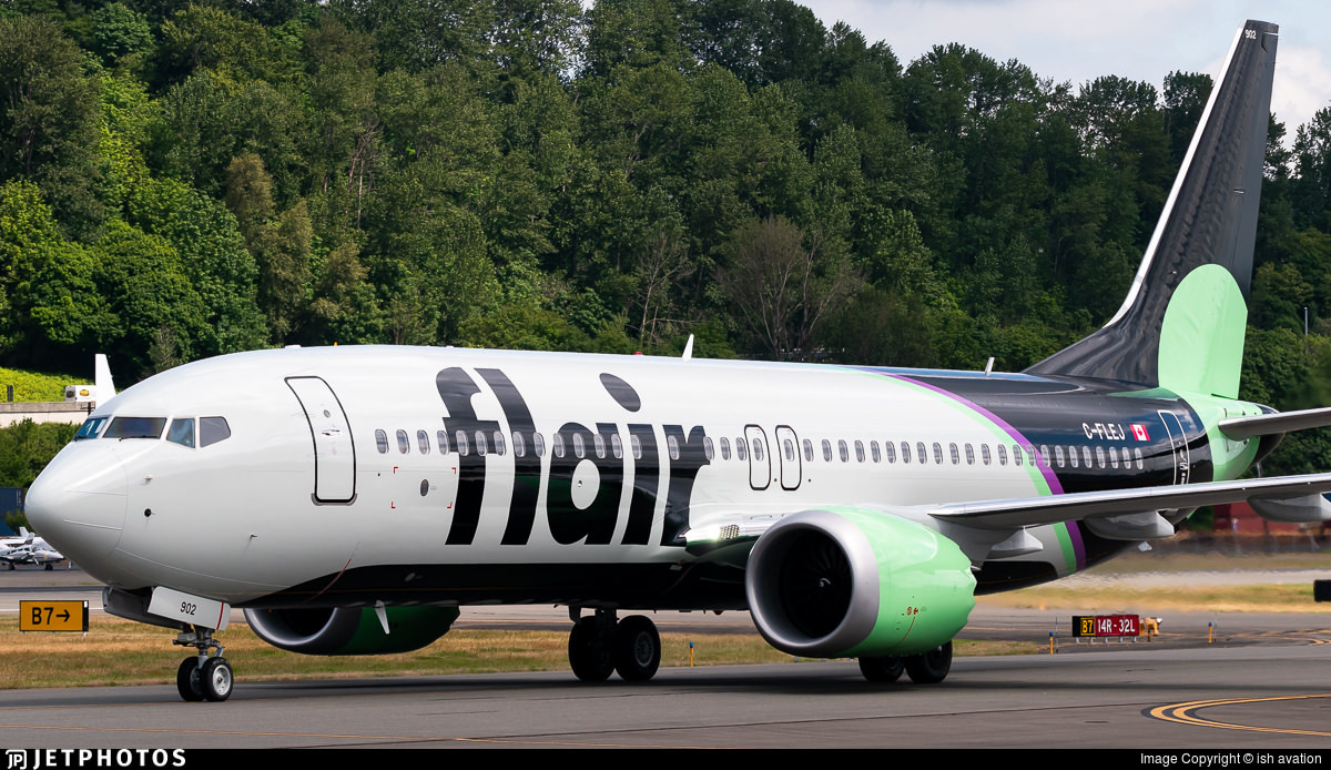 Flair Airline's first 737-8 MAX