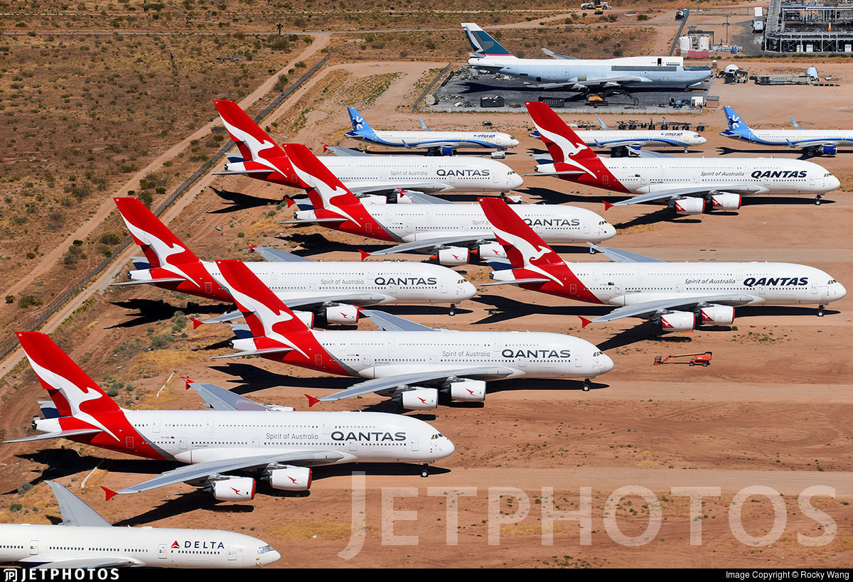 Qantas A380s stored in Victorville