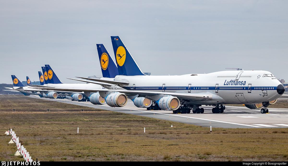 Lufthansa 747s in storage in Frankfurt