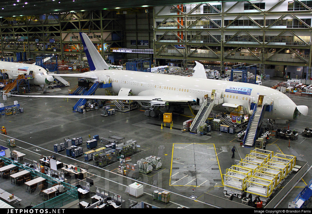 Boeing 787 on the assembly line