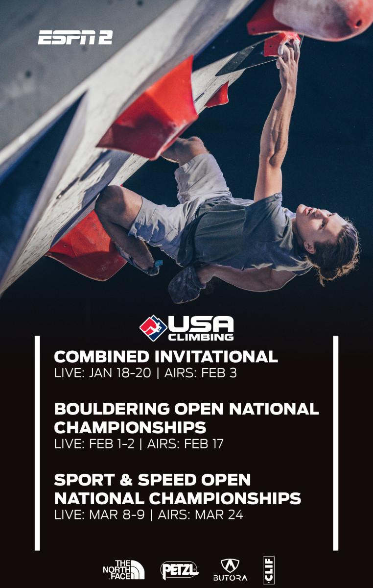 ESPN USA Climbing Poster