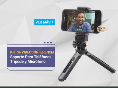 Kit de Videoconferencia Soporte Para Teléfonos, Trípode y Micrófono