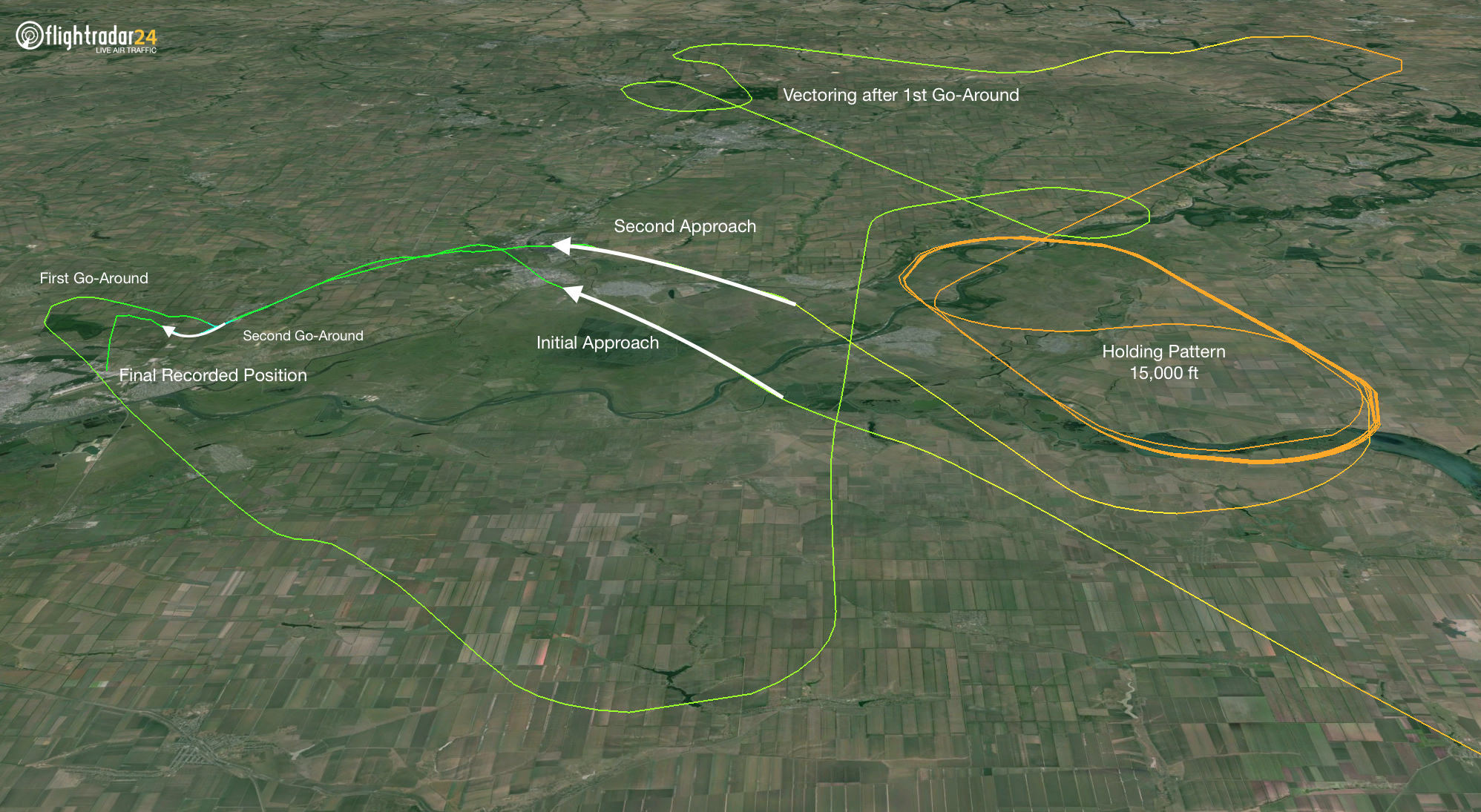 FlyDubai 981 flight path
