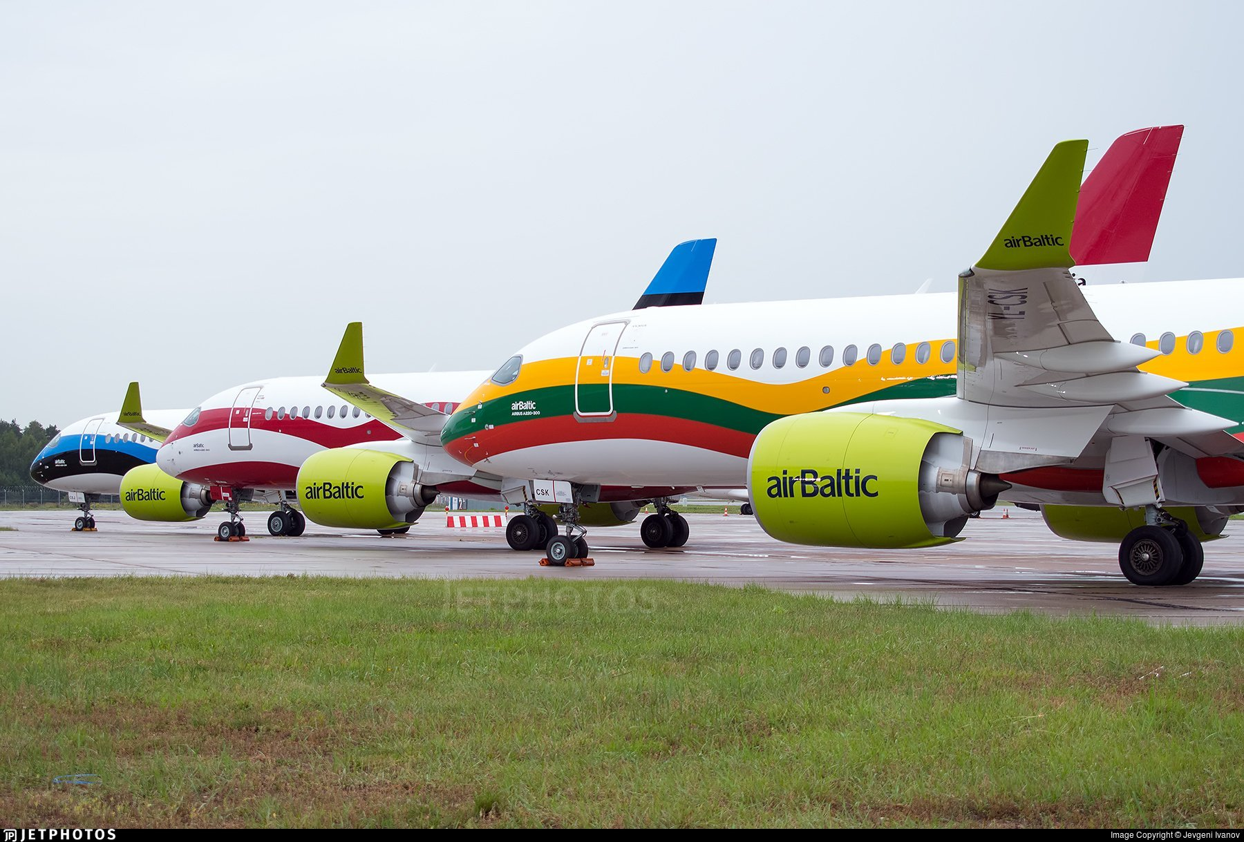 Air Baltic special livery A220s