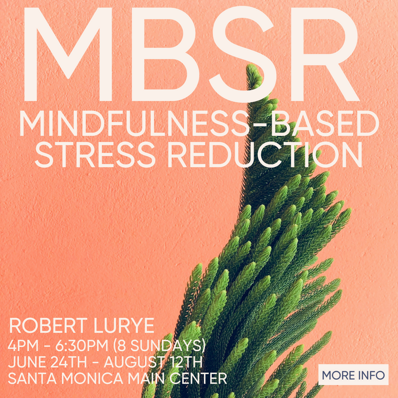 Mindfulness-Based Stress Reduction with Robert Lurye beginning June 24th
