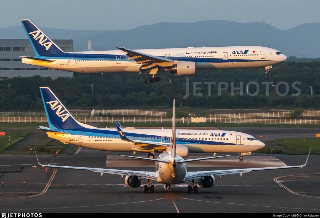 ANA 777 and 737