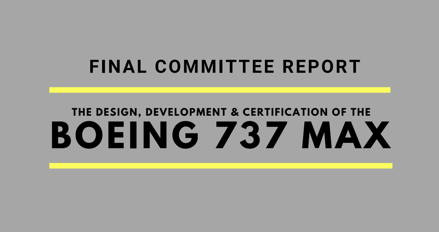 Boeing 737 MAX report
