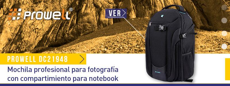 Prowell DC21948 - Mochila profesional para fotografía con compartimiento para notebook