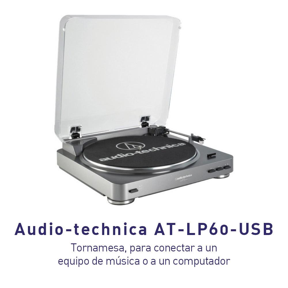 Tornamesa Audio-technica AT-LP60-USB para conectar a un equipo de música o Computador