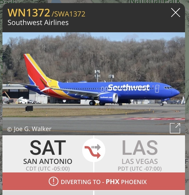Example of new diversion information in aircraft info panel on Flightradar24 dot com