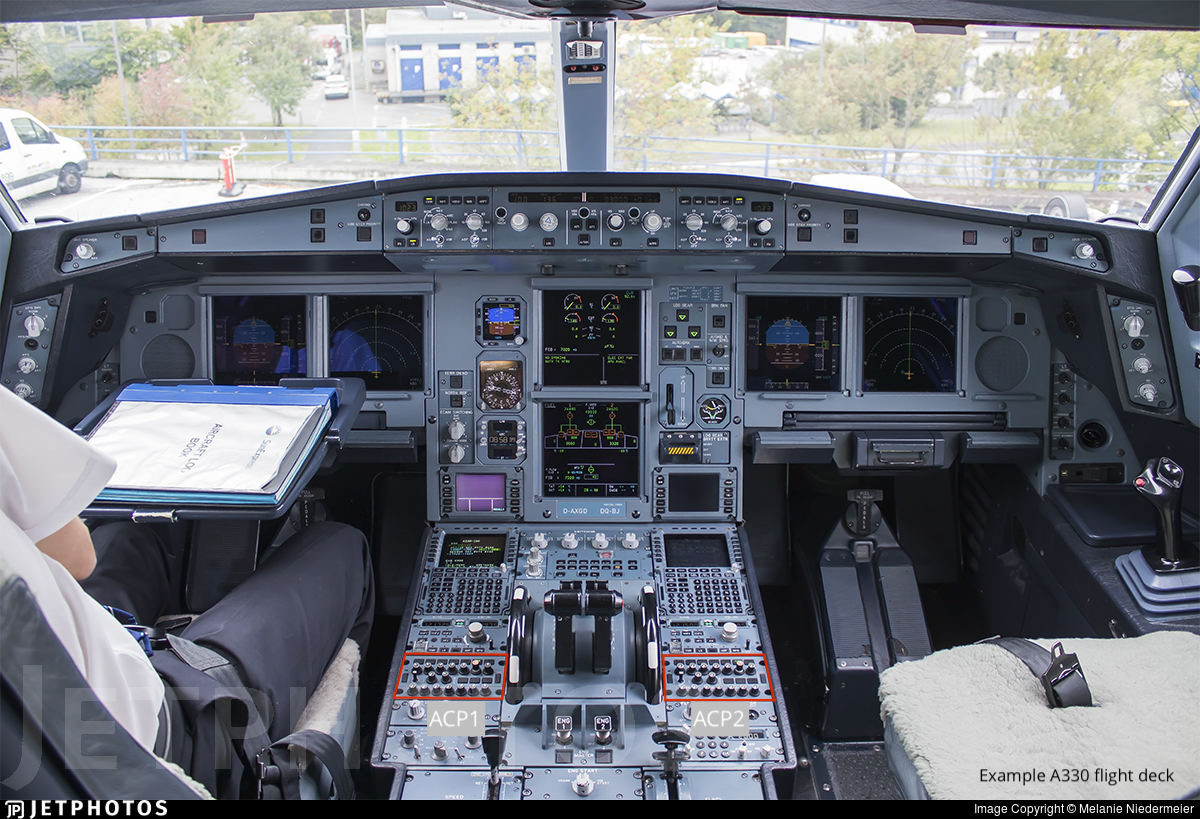 A330 flight deck example