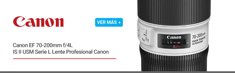 Canon EF 70-200mm f/4L IS II USM Serie L Lente Profesional Canon