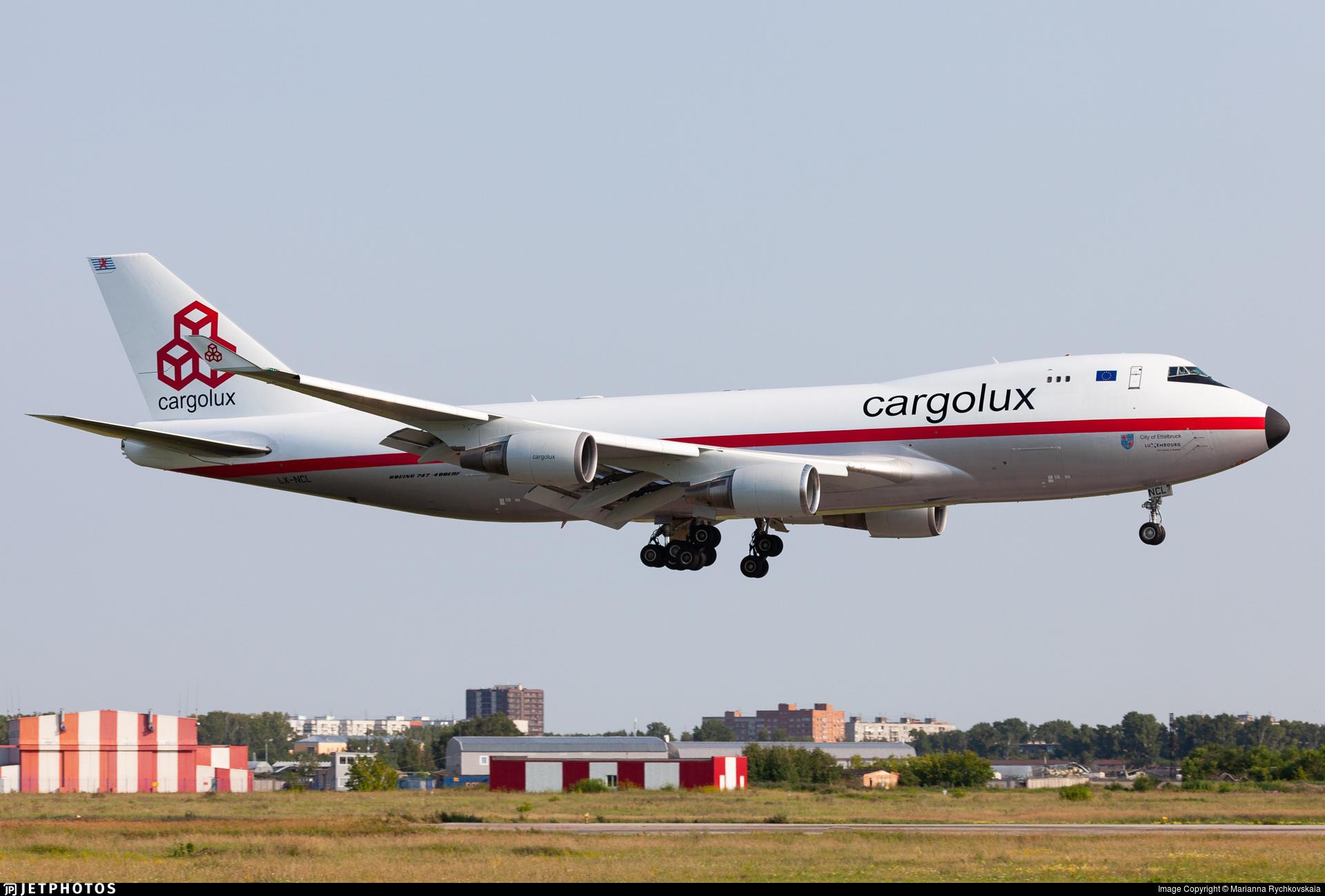 Cargolux 747 in retro jet livery