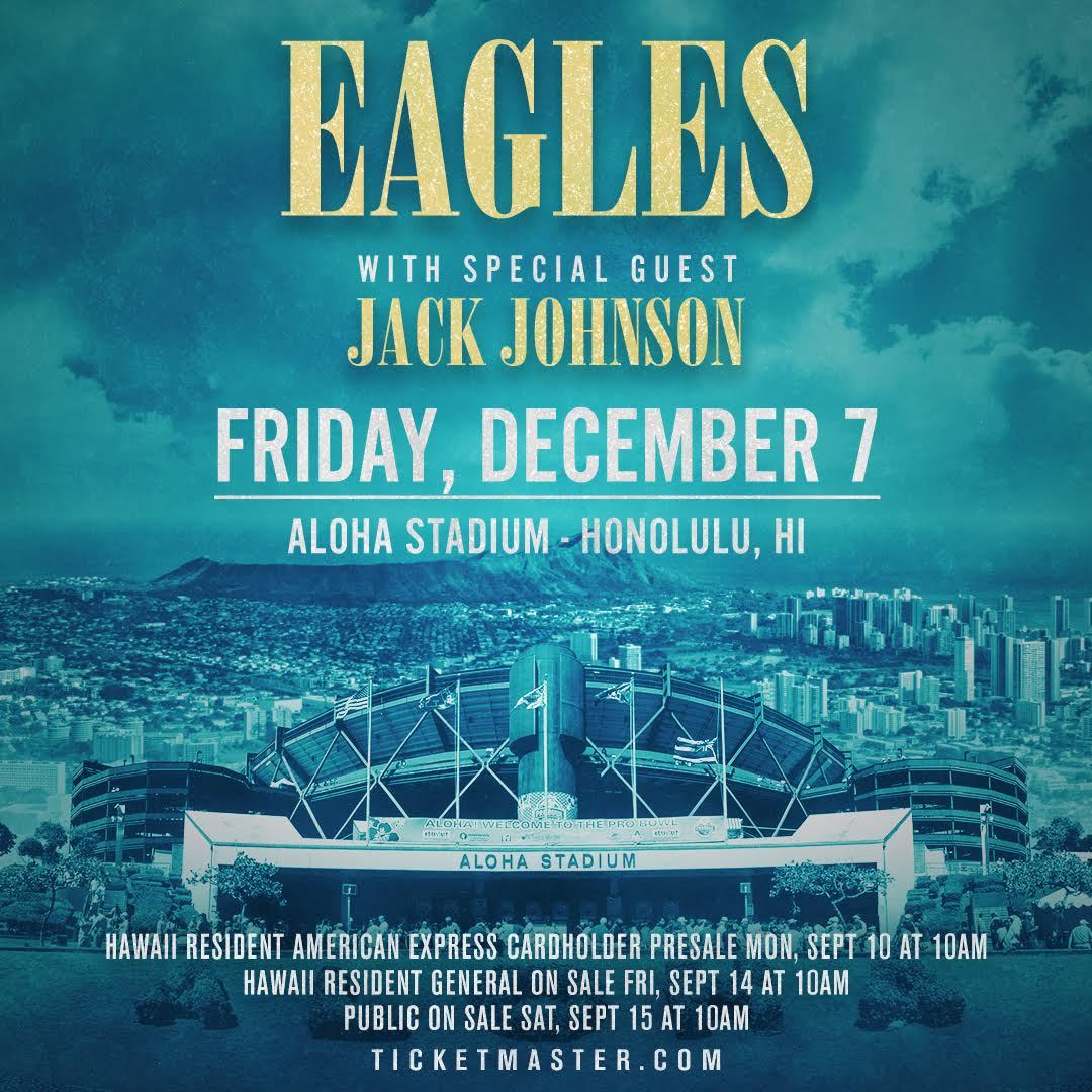 Jack to open for the Eagles in Hawaii! - News - Jack Johnson Music