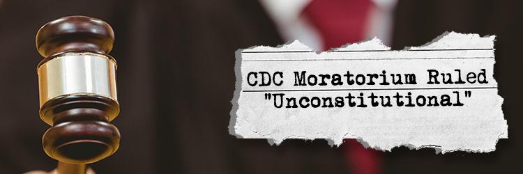 CDC moratorium ruled unconstitutional