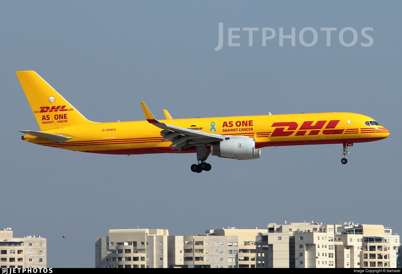 DHL 'Movember' 'As one against cancer' special livery 757