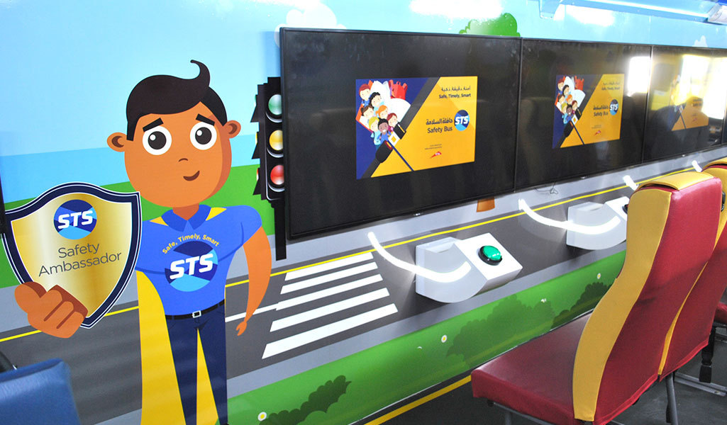 STS introduces the new Safety Bus to teach the importance of travelling to school Safely, Timely, and Smartly.