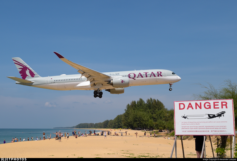 Qatar A350 landking in Phuket