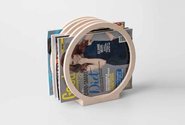 Round Magazine Rack