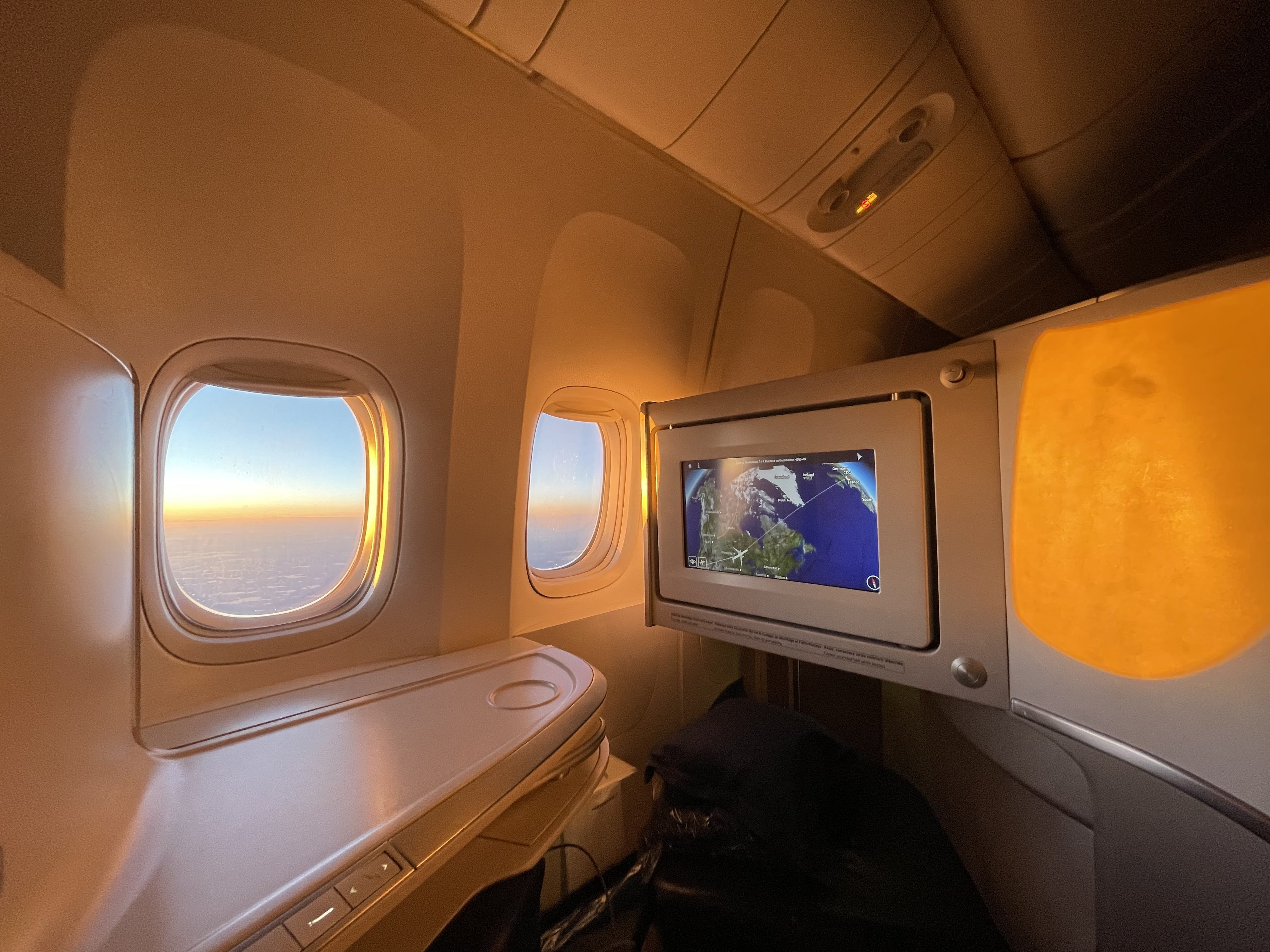 Air France business class seat on the 777-300ER