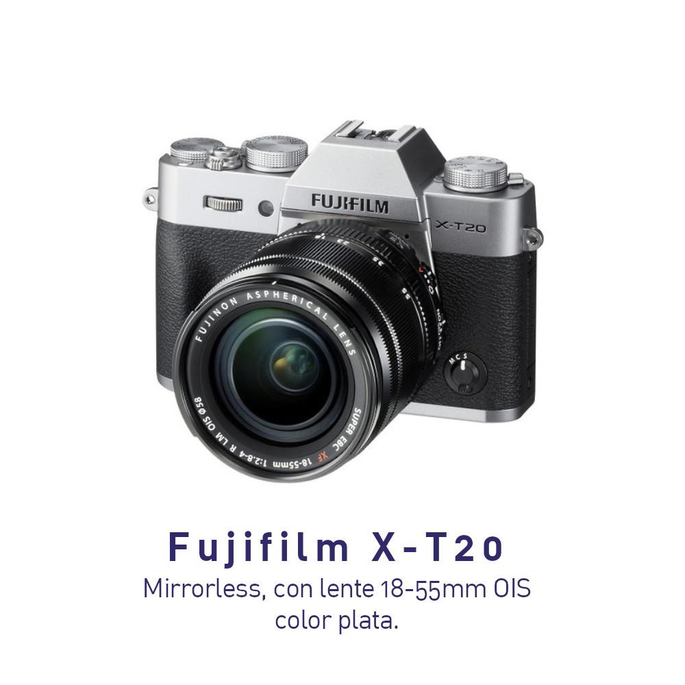 Fujifilm X-T20 Cámara Mirrorless Sin espejo con lente 18-55mm color SILVER