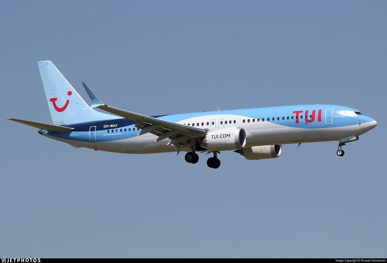 TUI 737 MAX registered OO-MAX