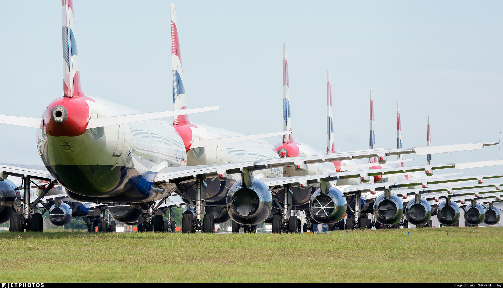 British Airways A320 family aircraft in storage
