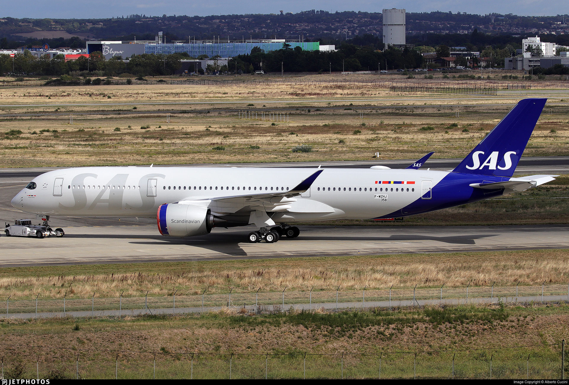 The first SAS A350 in Toulouse