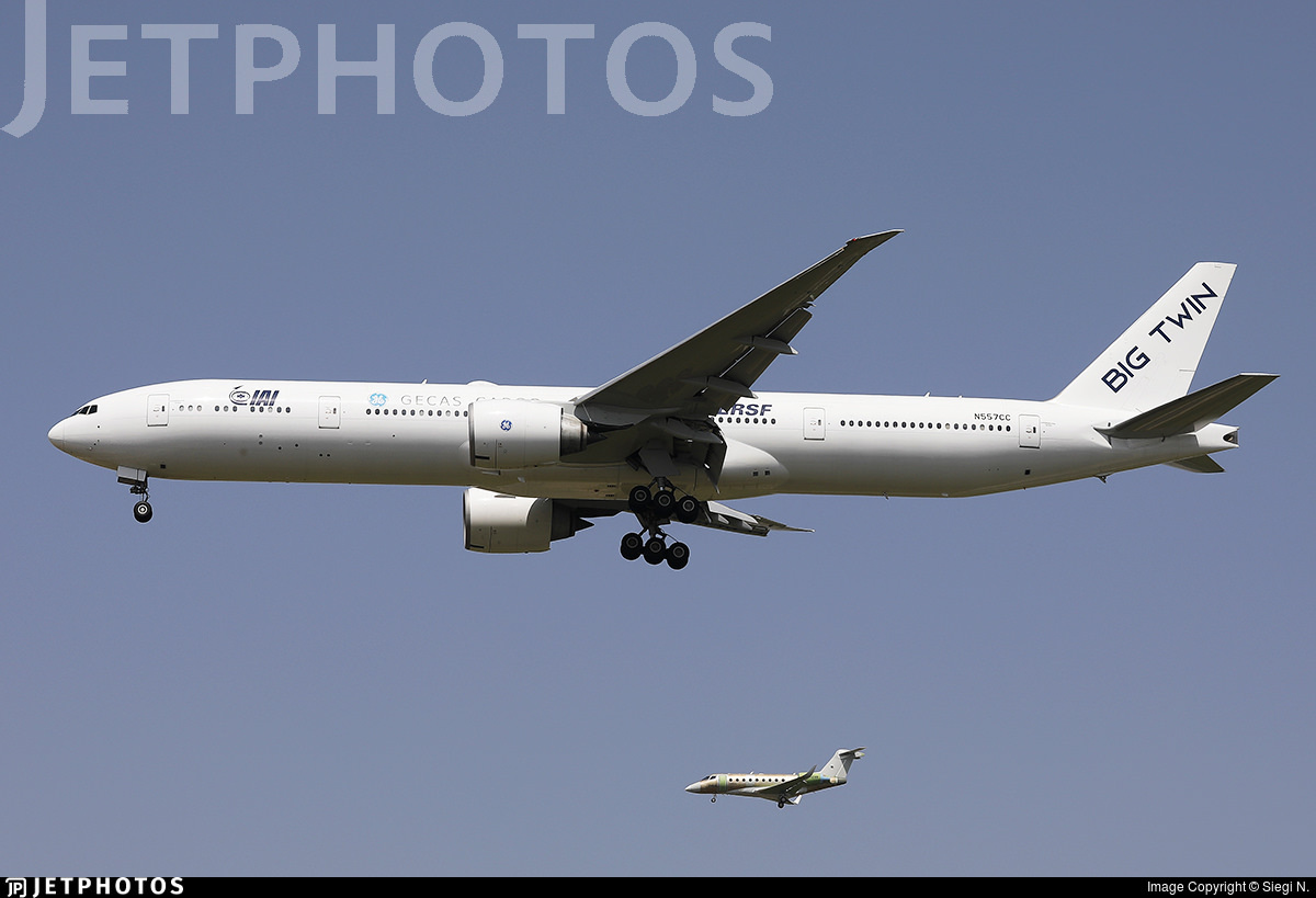 The first 777-300ER to be converted to a freighter participating in Israel's 73rd independence day flypast