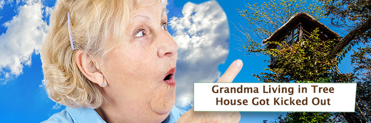 Grandma  Living in Treehouse Got Kicked Out