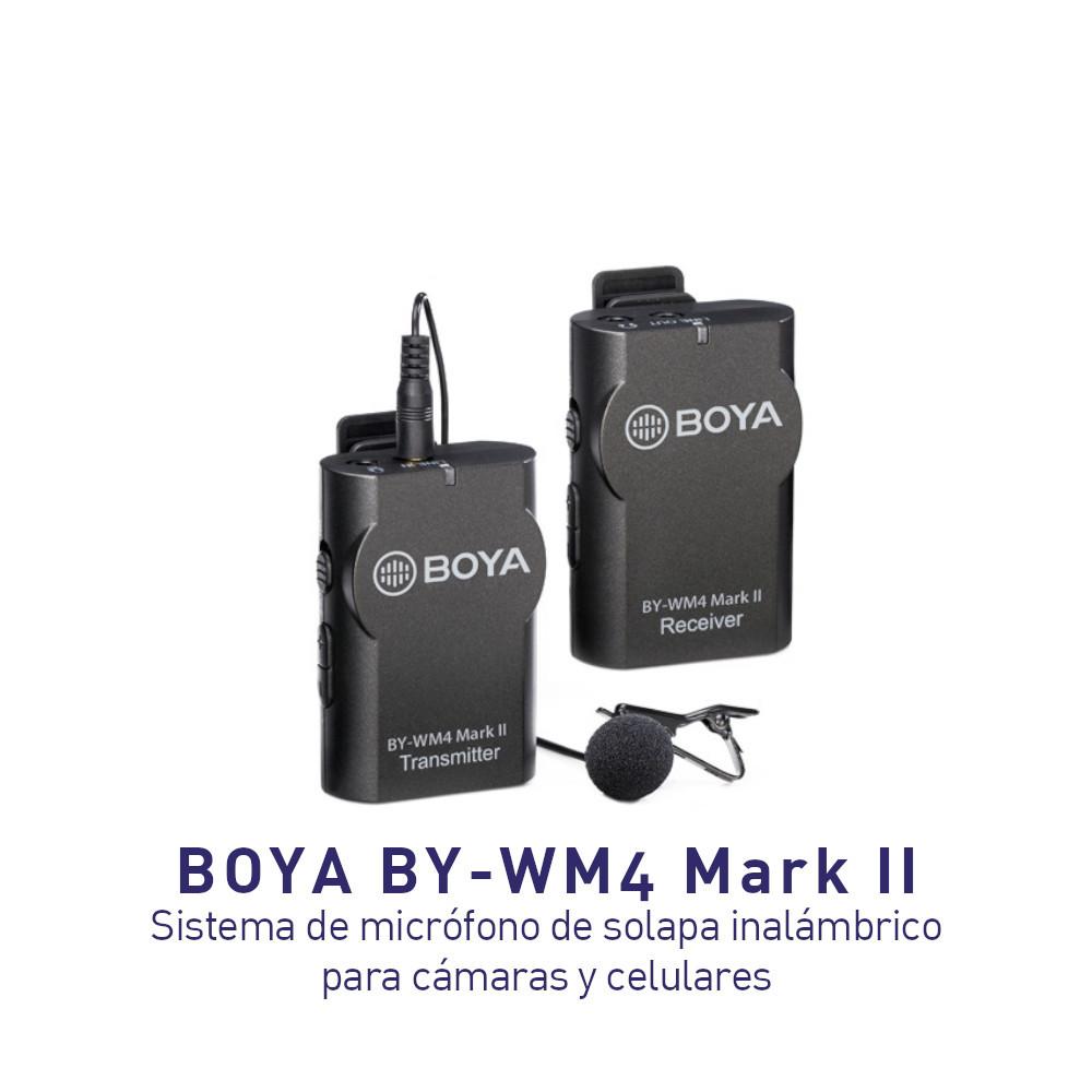 Micrófono BOYA BY-WM4 Mark II Lavalier inalámbrico